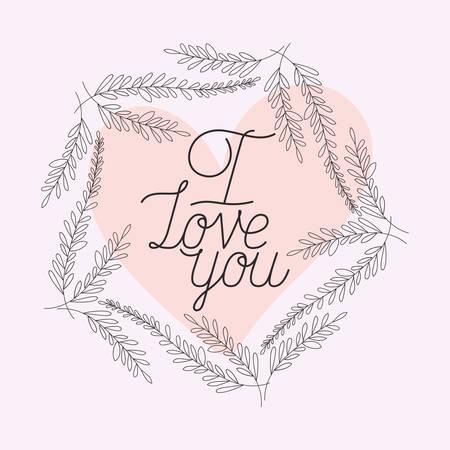 love card with herbs drawn frame vector illustration design Illustration