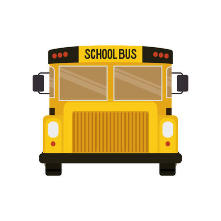 school bus color yellow isolated icon vector illustration design