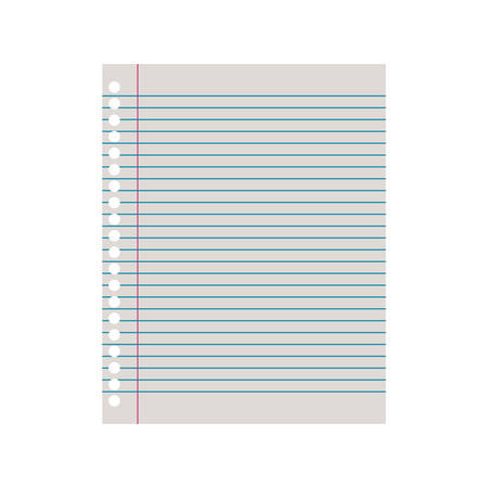 sheet of paper in white background vector illustration design