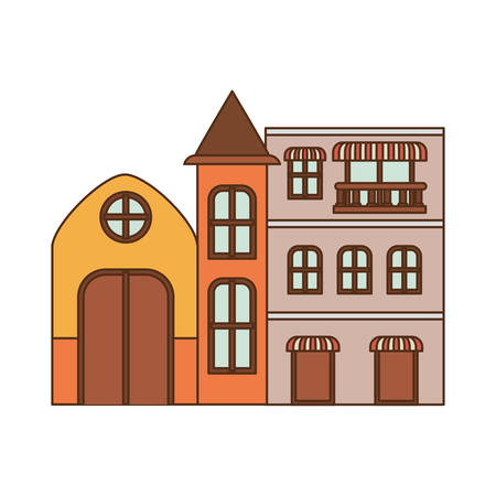 neighborhood houses isolated icon vector illustration design 矢量图像