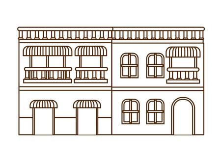 neighborhood houses isolated icon vector illustration design Иллюстрация