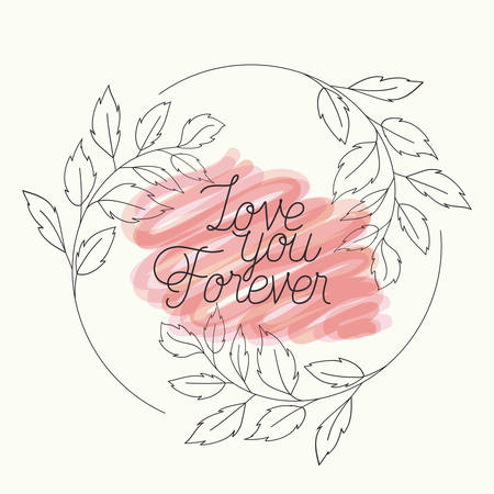 love card with herbs drawn frame vector illustration design
