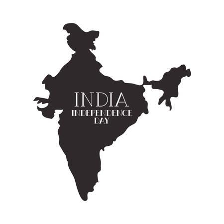 celebration of Indian independence day vector illustration design Ilustração Vetorial