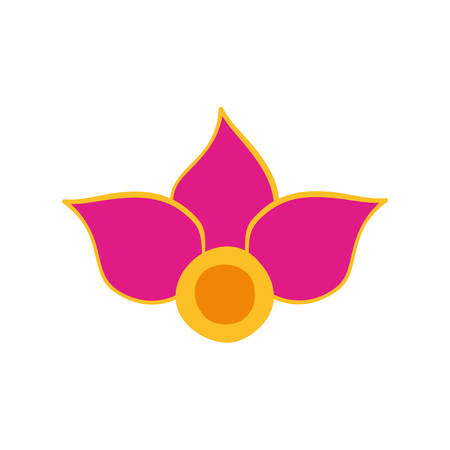 colorful flower of the india icon vector illustration design Vectores