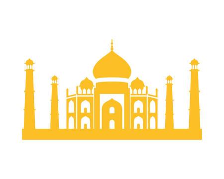 edification of taj majal and indian independence day vector illustration design Foto de archivo - 126541254