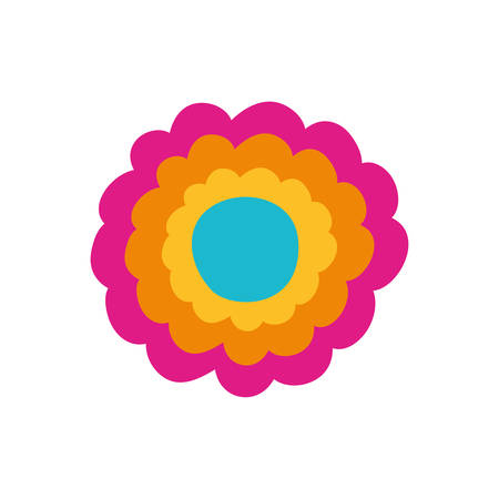 colorful flower icon vector illustration design Illustration