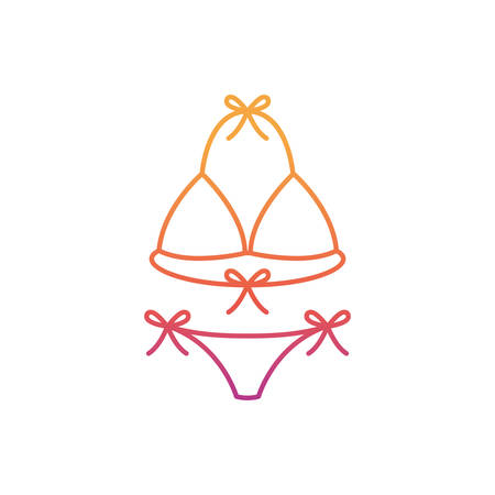 silhouette of woman swimsuit on white background vector illustration design