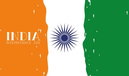 independence day india flag background vector illustration design
