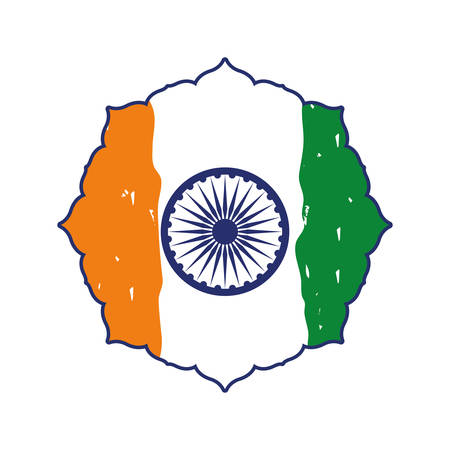 india independence day flag vector illustration design