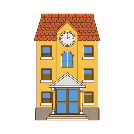 school building of primary isolated icon vector illustration design Ilustração
