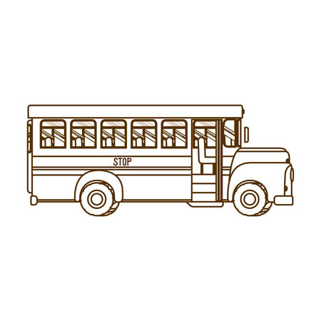 silhouette of school bus isolated icon vector illustration design