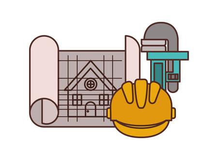Bauplan isoliert Symbol Vektor Illustration Design