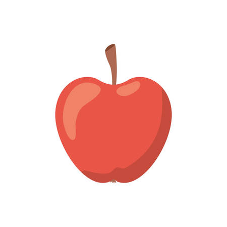apple fruit of color red isolated icon vector illustration design Vectores