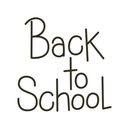back to school label on white background vector illustration design