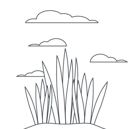 plant in landscape isolated icon vector illustration design Ilustrace