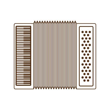 Accordéon mignon vecteur icône isolé illustration design