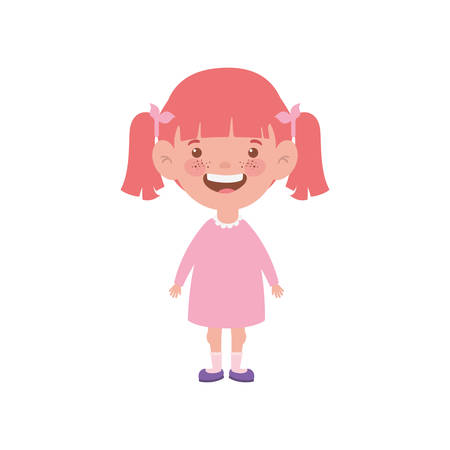 baby girl standing smiling on white background vector illustration design 免版税图像 - 127108356