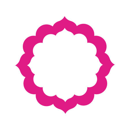 colorful flower of the india icon vector illustration design Illustration