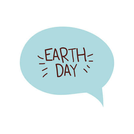 earth day label isolated icon vector illustration design