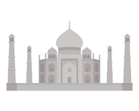 edification of taj majal and indian independence day vector illustration design
