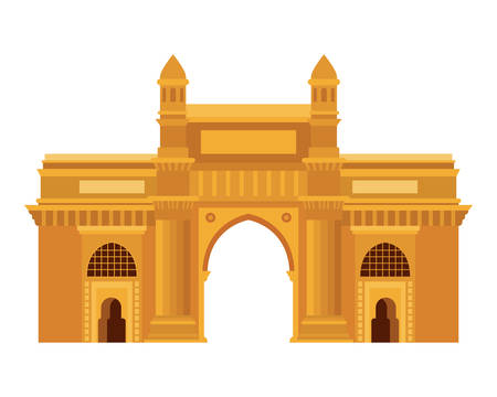 edification of gateway of india isolated icon vector illustration design
