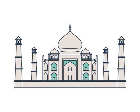 edification of taj majal and indian independence day vector illustration design Foto de archivo - 128882881