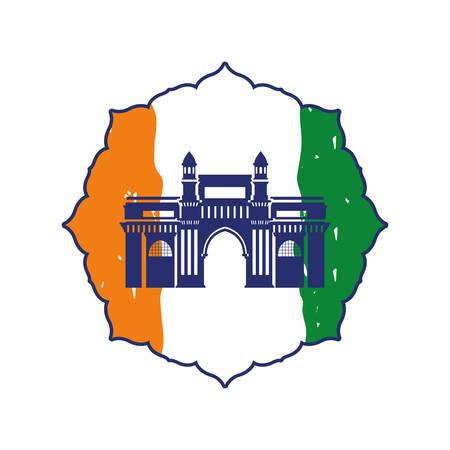indian independence day flag vector illustration design