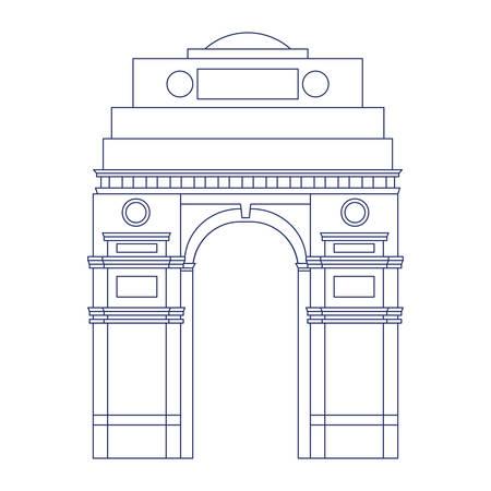 celebration of Indian independence day vector illustration design