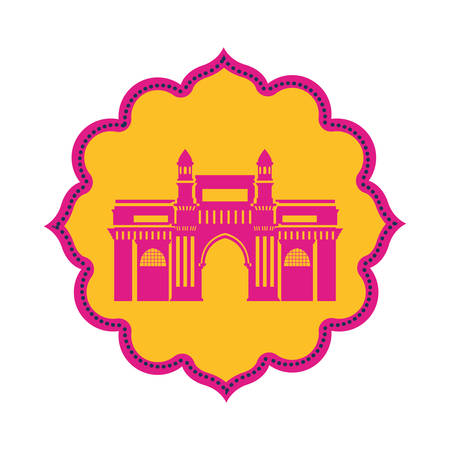 edification of gateway of india isolated icon vector illustration design 写真素材 - 128883023