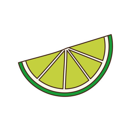 slice of lemon isolated icon vector illustration desing