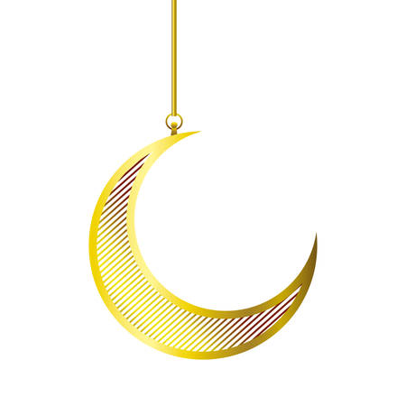 moon hanging isolated icon vector illustration design Vektoros illusztráció