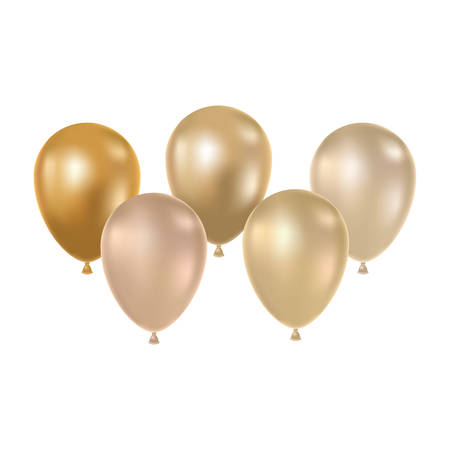 helium balloons on white background vector illustration design 일러스트