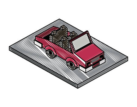 convertible car isometric icon vector illustration design