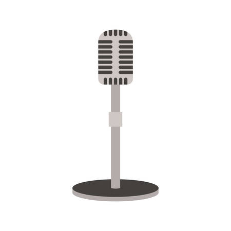 microphone on white background vector illustration design