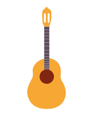 musical instrument acoustic guitar on white background vector illustration design