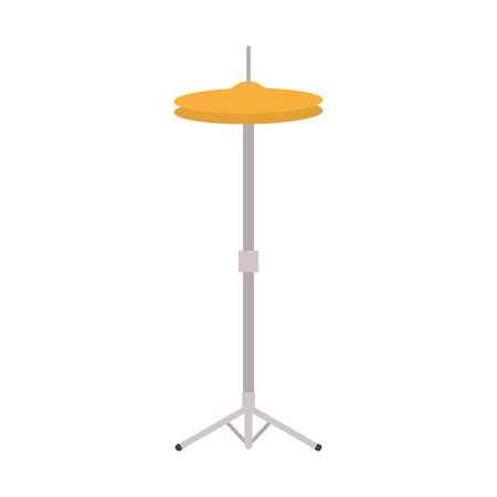 cymbals musical instrument with stand on white background vector illustration design Çizim