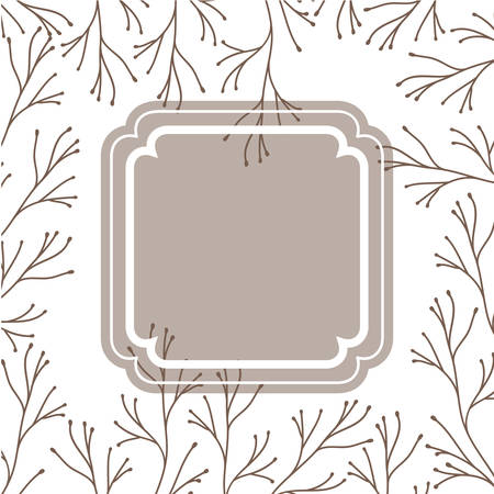 frame with plants and herbs isolated icon vector illustration desing Stock Vector - 128884668