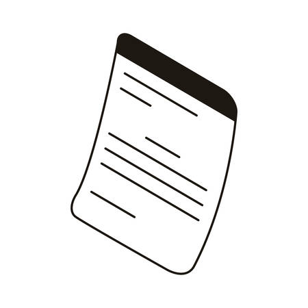 silhouette of sheets of paper in white background vector illustration design Illusztráció