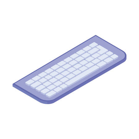 computer keyboard on white background vector illustration design Banco de Imagens - 128997378