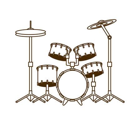 drum kit musical instrument on white background vector illustration design Stock Vector - 128969506