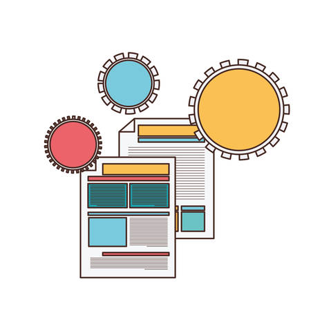 file sheet in white background vector illustration design