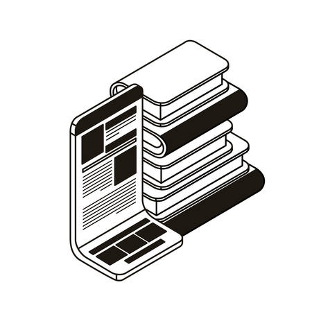 stack of books on white background vector illustration design Illusztráció