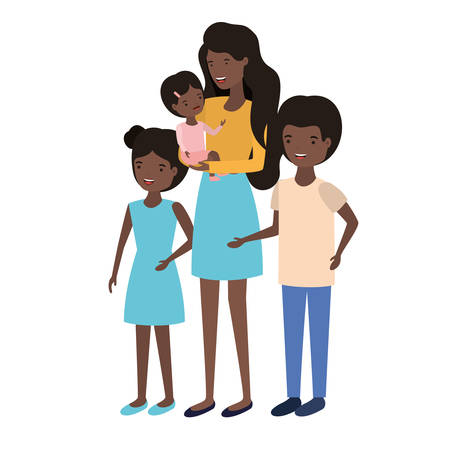 woman with children avatar character vector illustration design Banque d'images - 129113379