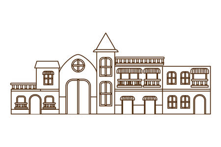 neighborhood houses isolated icon vector illustration design Иллюстрация