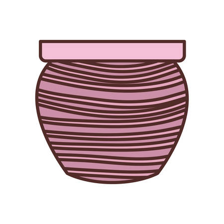 cute flower pot isolated icon vector illustration design