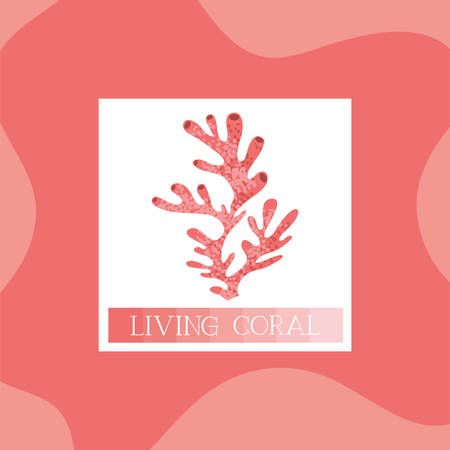 seaweed icon living coral style vector illustration design  イラスト・ベクター素材
