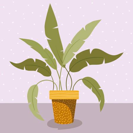 houseplant in pot icon vector illustration design
