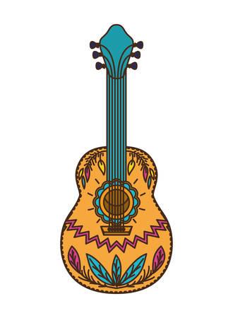 mexican guitar isolated icon vector illustration design Ilustração