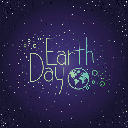 world planet earth day celebration vector illustration design