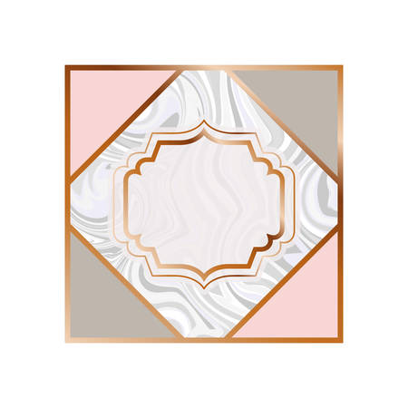 card with marble texture icon vector illustration design Stockfoto - 129228088